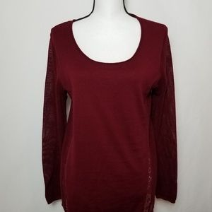 Lucky Brand Red Long Sleeve Pins and Needles Shirt